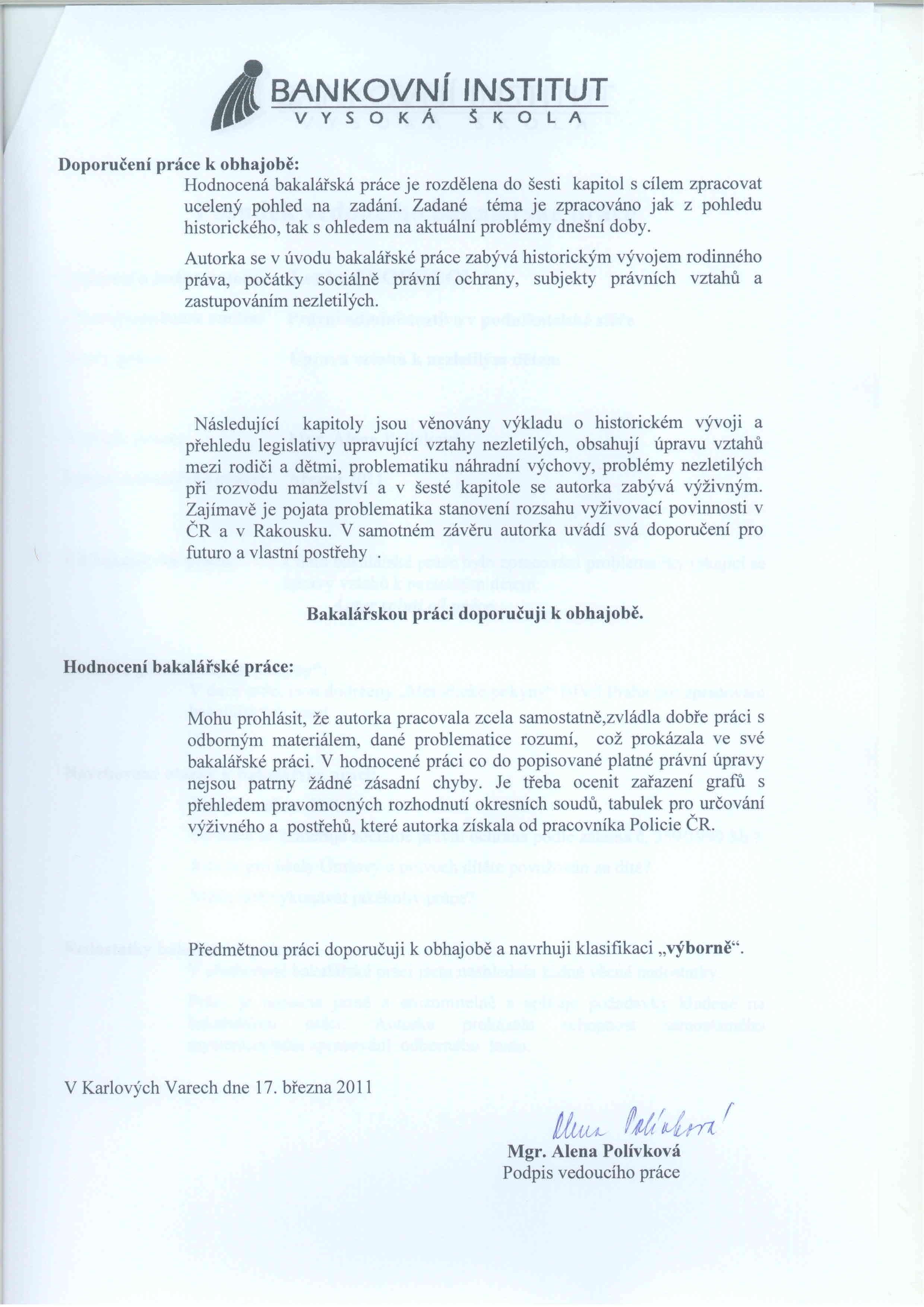 Archiv závěrečné práce Lenka Svobodová BIVŠ BANK PAK kombin.  jtlh0  e2fa6890ee